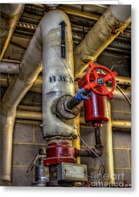 Hot Water Supply Greeting Card by Dan Stone