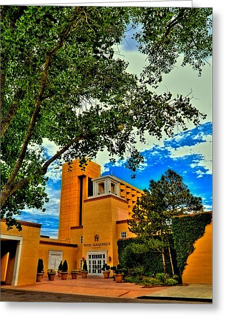 Hotel Albuquerque In Old Town Greeting Card by David Patterson