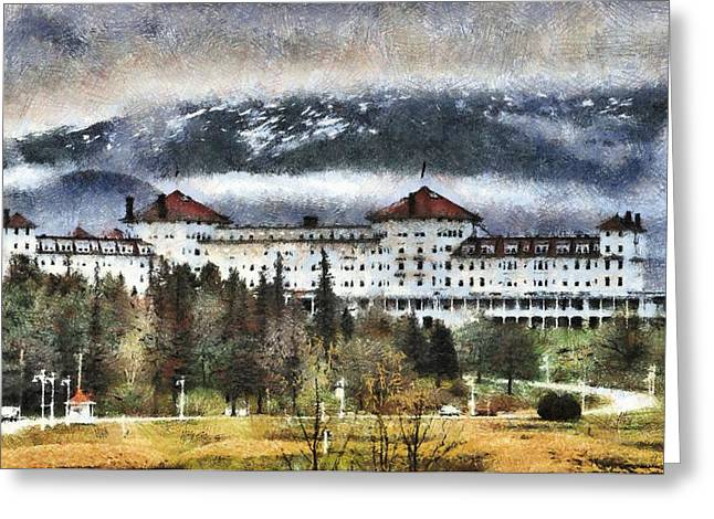 Hotel At Mount Washington Greeting Card