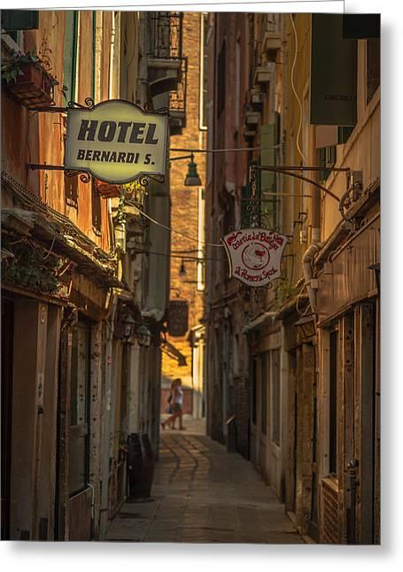 Hotel Bernardi S Greeting Card by Chris Fletcher