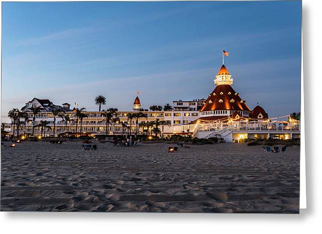 Hotel Del At Twilight Greeting Card
