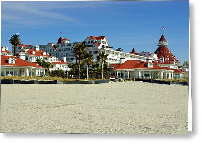 Hotel Del Coronado Beach Greeting Card