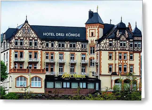 Hotel Drei Konige - Bernkastel-kues - Germany Greeting Card by Jon Berghoff