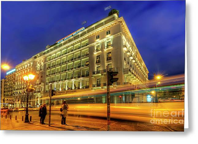 Greeting Card featuring the photograph Hotel Grande Bretagne - Athens by Yhun Suarez