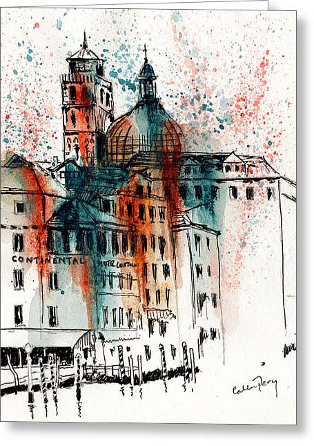 Hotel In Venice Greeting Card