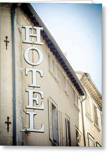 Greeting Card featuring the photograph Hotel by Jason Smith