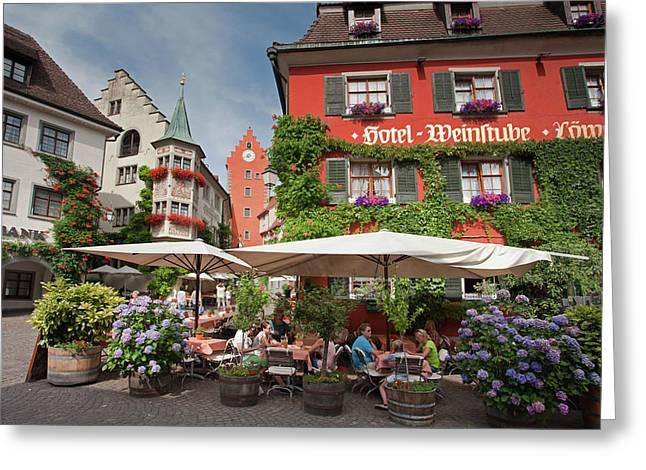 Hotel Lowen-weinstube Greeting Card
