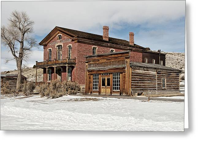 Hotel Meade And Saloon Greeting Card