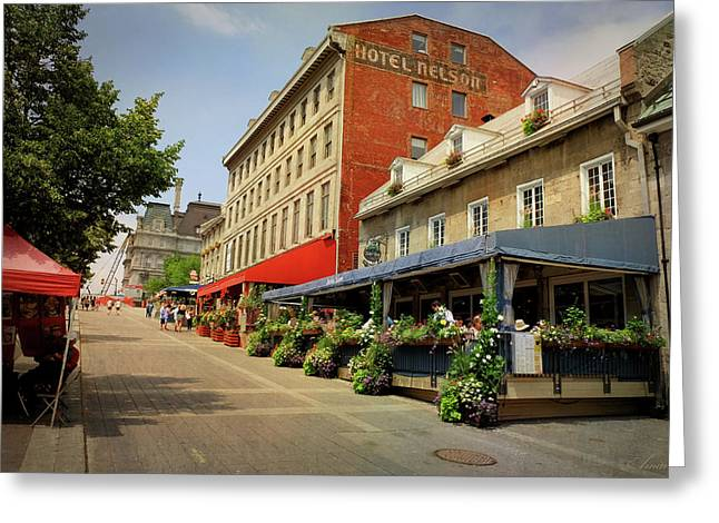 Hotel Nelson - Place Jacques Cartier Greeting Card by Maria Angelica Maira