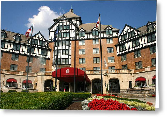 Virginia Tech Greeting Cards - Hotel Roanoke Greeting Card by Mindy Woodford