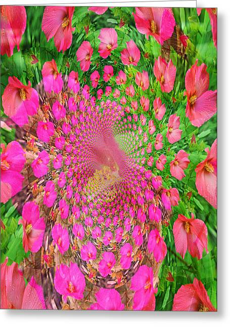 Hothouse Vortex Greeting Card