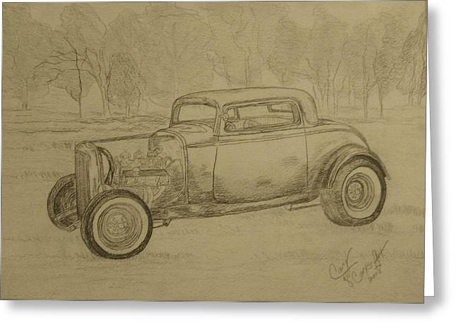 Hotrod 1934 Ford Coupe Greeting Card by Cary Singewald