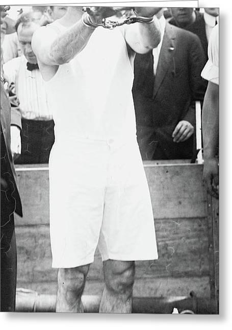 Houdini, 1910 Greeting Card