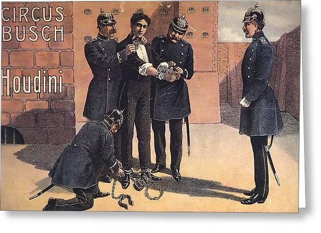 Houdini Circus Busch Greeting Card