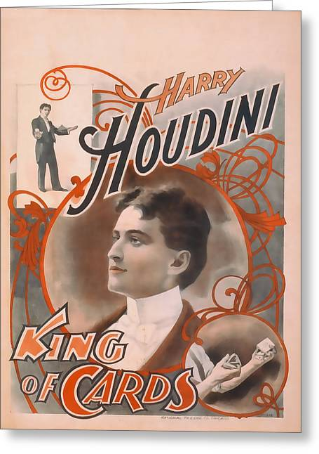 Houdini King Of Cards Greeting Card
