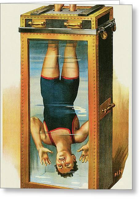Houdini's Upsidedown Escape Greeting Card