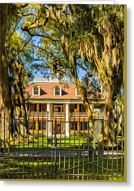 Houmas House Plantation 2 - Paint Greeting Card