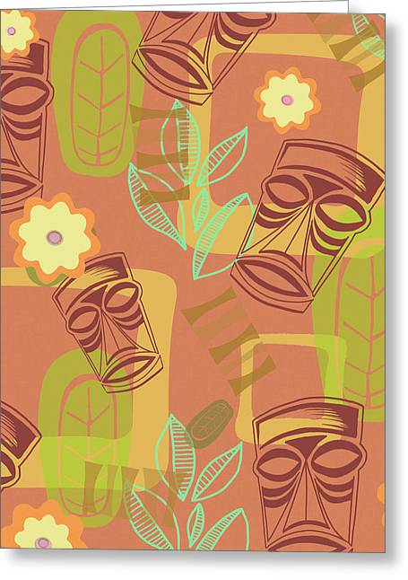 Hour At The Tiki Room Greeting Card by Little Bunny Sunshine