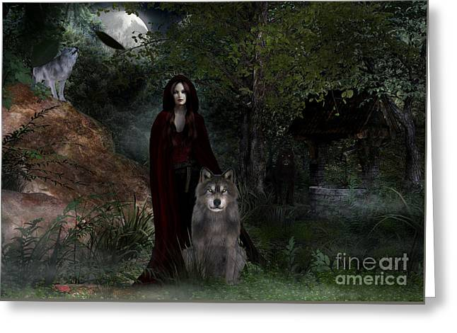Hour Of The Wolf Greeting Card
