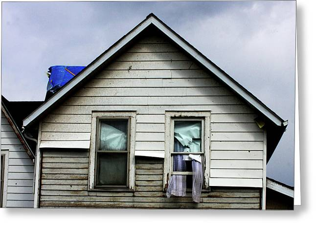 House After Tornado Greeting Card by Chris Fender