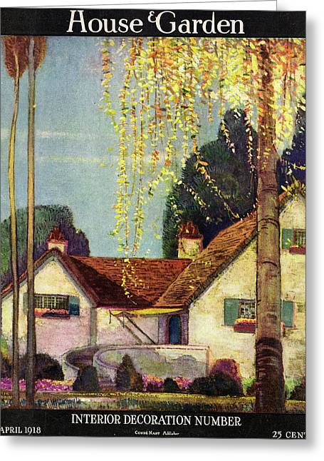 House And Garden Interior Decoration Number Cover Greeting Card by Porter Woodruff