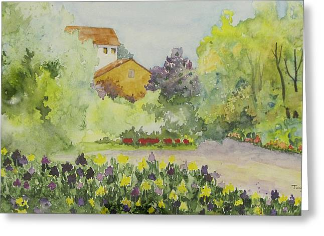 House And Garden Greeting Card