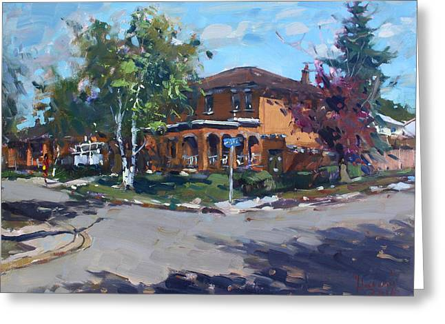 House At Goldmar Dr Mississauga On Greeting Card by Ylli Haruni