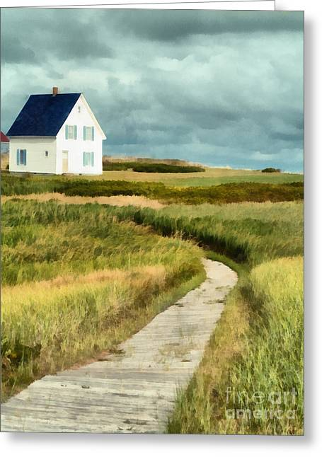 House At The End Of The Boardwalk Greeting Card by Edward Fielding