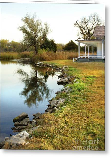 Greeting Card featuring the photograph House By The Edge Of The Lake by Jill Battaglia