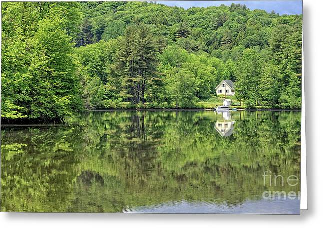 House By The River Vermont Greeting Card by Edward Fielding