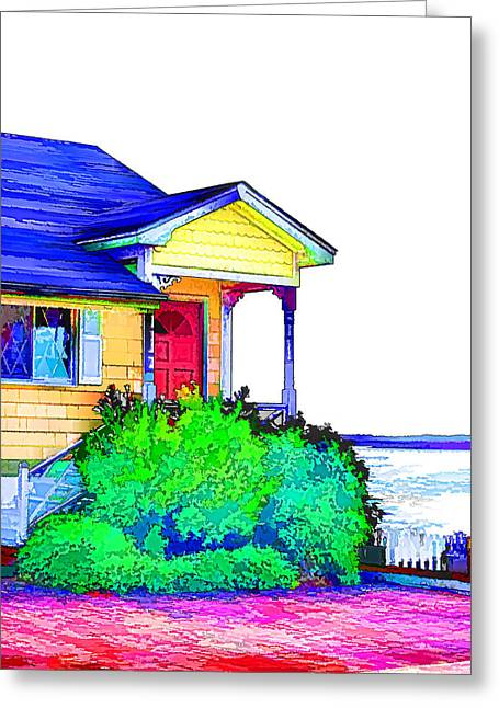House By The Sea Greeting Card by Lanjee Chee