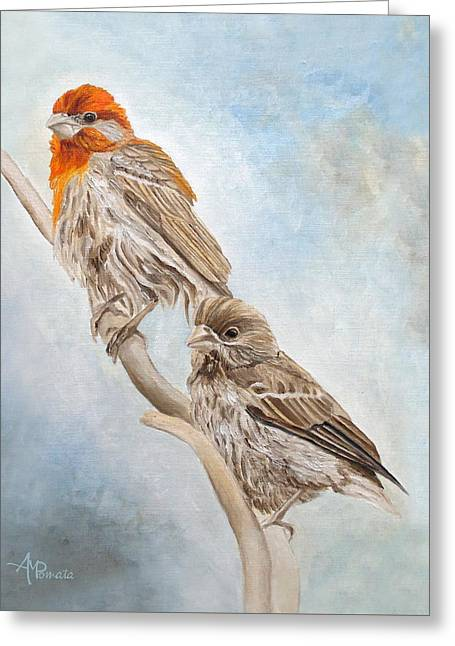 House Finch Couple Greeting Card