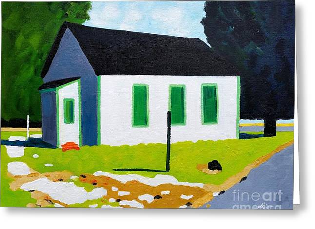 House, Greenbriar Rd,cambridge Greeting Card by Lesley Giles