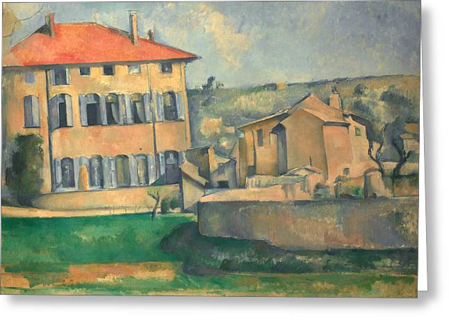 House In Aix  Greeting Card by Paul Cezanne