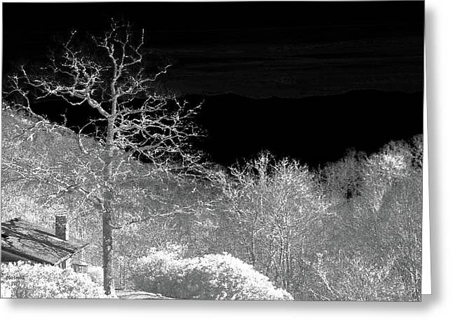 House In Winterland Greeting Card by Dennis Baswell