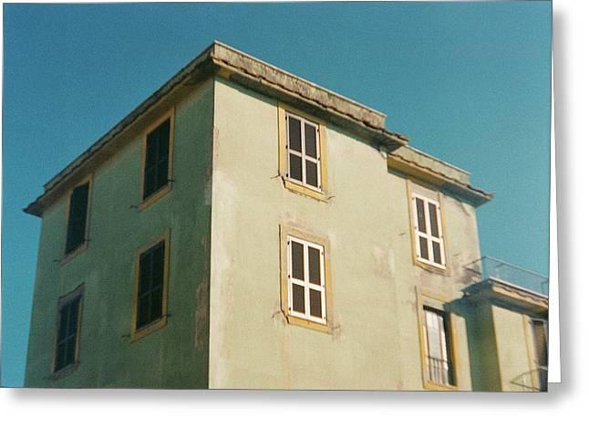 House In Ostia Beach, Rome Greeting Card