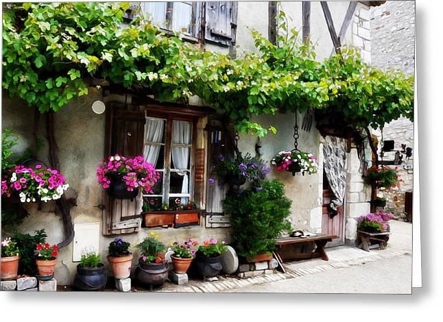 House In Pujols France Greeting Card by Marion McCristall