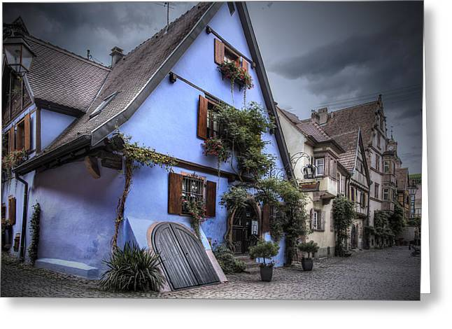 House In Riquewihr, Alsace Greeting Card by Sandra Rugina