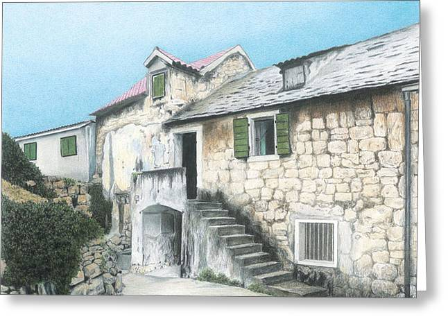 House In Split Croatia Greeting Card by Wilfrid Barbier