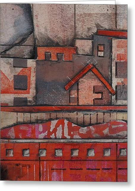 House In The City  Greeting Card