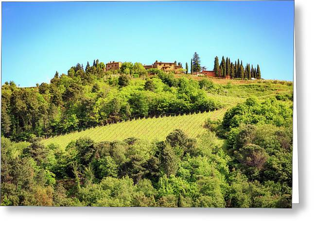 House In The Hillside Of Chianti Italy Greeting Card