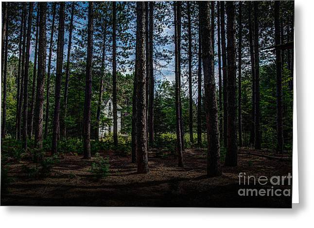 House In The Pines Greeting Card