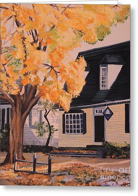 House In Williamsburg  Va Greeting Card by Terri Thompson