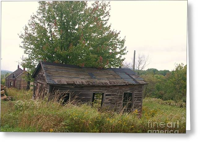 House Left Alone. Greeting Card by Dennis Curry
