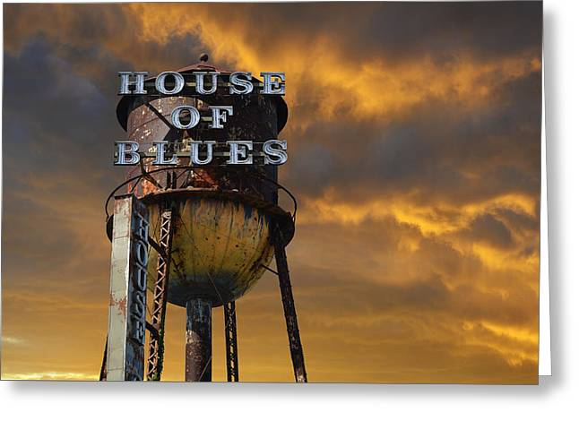 House Of Blues  Greeting Card by Laura Fasulo