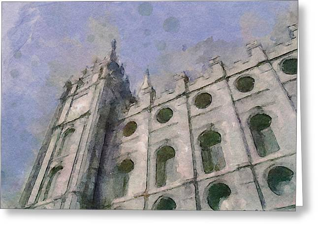 House Of Faith Greeting Card by Greg Collins
