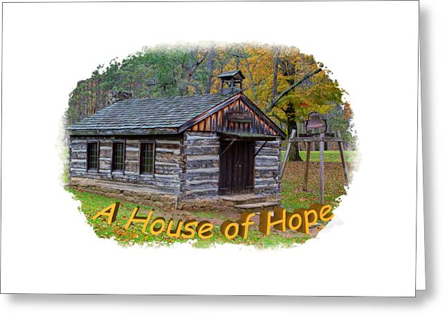 Short Sleeves Greeting Cards - House of Hope Greeting Card by John Bailey