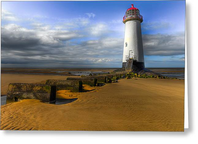 Lighthouse Digital Greeting Cards - House of Light Greeting Card by Adrian Evans