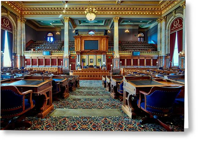 House Of Representatives - Iowa State Capitol Greeting Card by Mountain Dreams