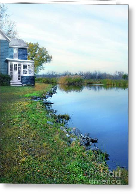 Greeting Card featuring the photograph House On A Lake by Jill Battaglia